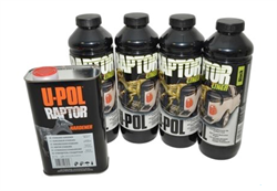 Raptor maling 4 liter kit sort