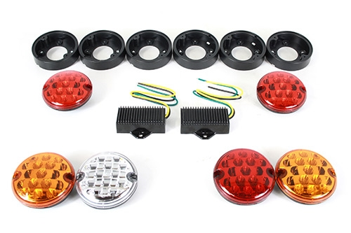 Lygtekit LED 95mm opgraderingskit til Land Rover Defender & Serie III