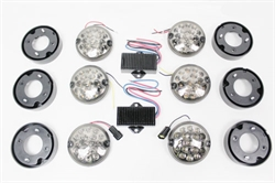 "Lygtekit LED ""Smoked"" glas til Land Rover Defender"