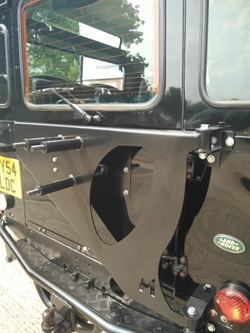 Reservehjulsophæng/Spare whee carrier (swing away) til Land Rover Defender