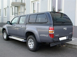 Hard top Aeroklas Leisure m/skyde vinduer til Ford Ranger Double Cab årg. 06-11