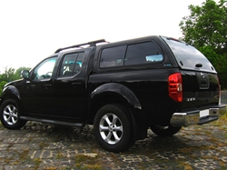Hard top Aeroklas Leisure m/skyde vinduer til Nissan Navara D40 Double Cab